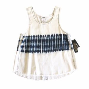 bebe Girls Tie Dye Chambray Tank Top Sz L